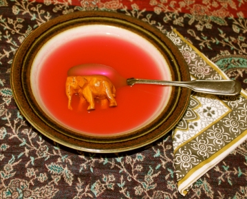 WAITER! THERE'S AN ELEPHANT IN MY SOUP